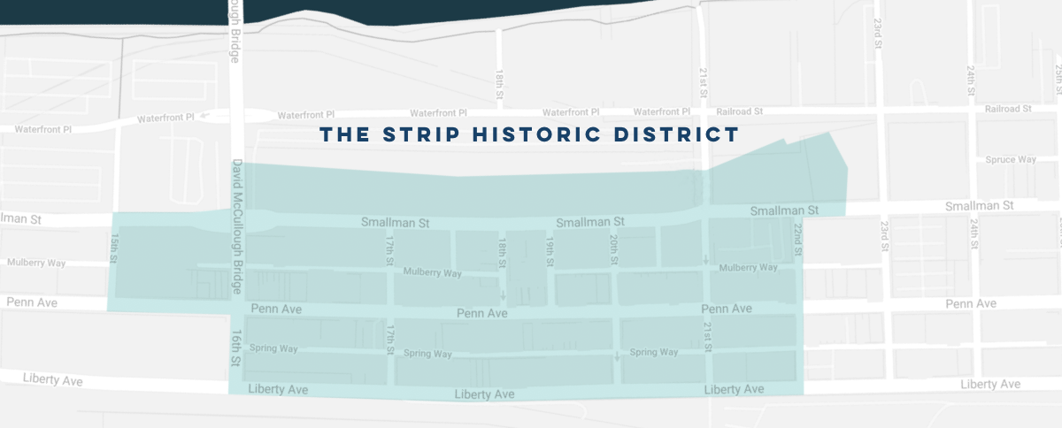placeholder for Strip Historic District map